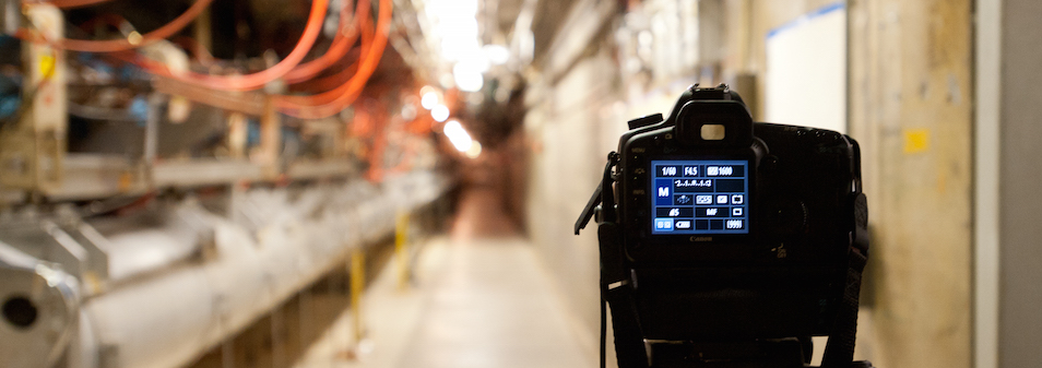 Photo - camera pointed down accelerator tunnel