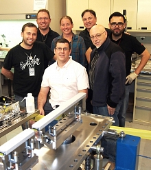 Photo - The assembly team for the split-and-delay sys...