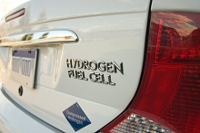 Photo of a hydrogen fuel cell car