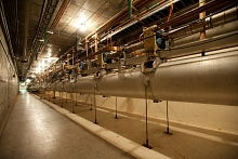 Photo - Linear accelerator tunnel at SLAC. (SLAC Multimedia Communications)