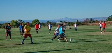 Photo - The traditional SSI students vs SLAC soccer game