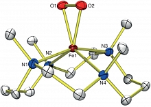 Ball-and-stick model of an X-ray crystal structure