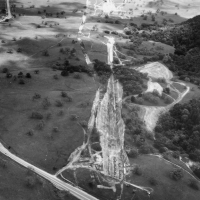 Aerial of SLAC Construction (1963)
