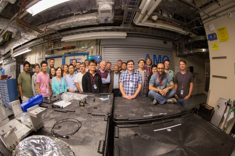 Image - Some members of the Single Particle Imaging initiative, launched last year at SLAC, participated in the initiative's latest experiment in late July and early August at SLAC's Linac Coherent Light Source X-ray laser.