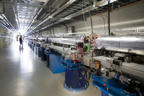 Image - The Undulator Hall at SLAC's Linac Coherent Light Source X-ray laser.