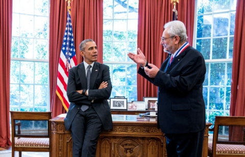 Image - Claudio Pellegrini, right, talks with President Obama in the Oval Office on Tuesday. (Pete Souza/Official White House Photo)