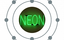 Image - Neon atom illustration, showing electrons on ...